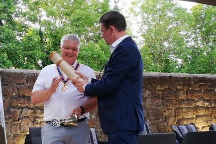 24 juin 2019 - passation de pouvoir entre Frédéric Terrien et Claude Salmon