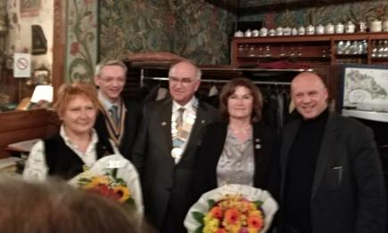 Béatrice Ripotot (adj au gouverneur) - Thierry Danner (Président) - Pierre Jachez (Gouverneur) et son épouse Noëlle - Stéphane Leyenberger (Maire de Saverne)